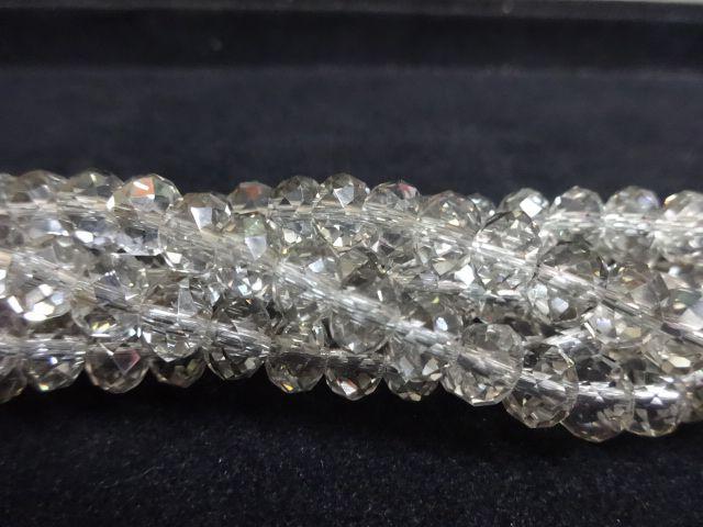Fio de Cristal 8mm (Cinza Transparente) - FDC35
