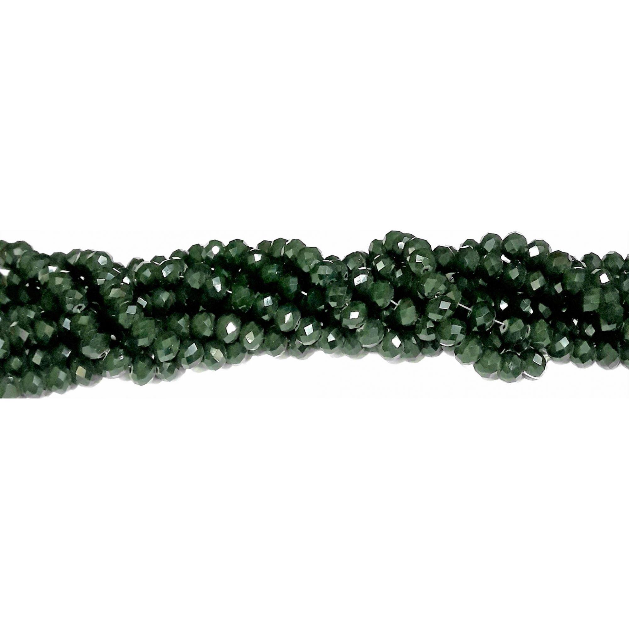 Fio de Cristal 8mm (Verde Militar) - FDC15