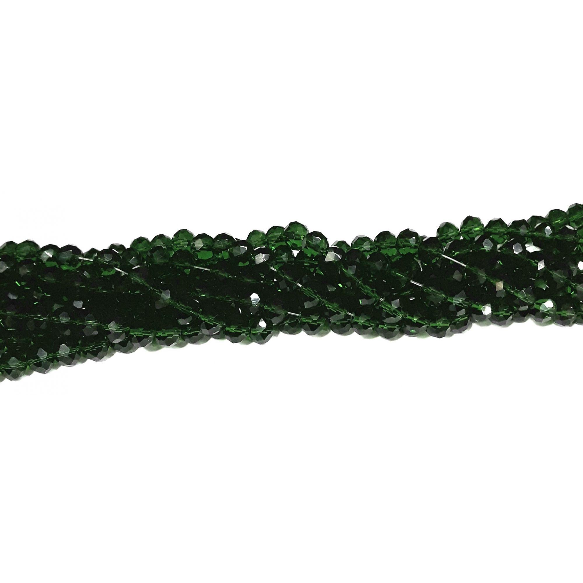 Fio de Cristal 8mm (Verde Musgo) - FDC11