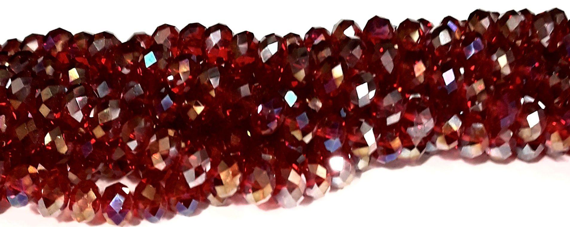Fio de Cristal 8mm ( Vermelho AB) -FDC06