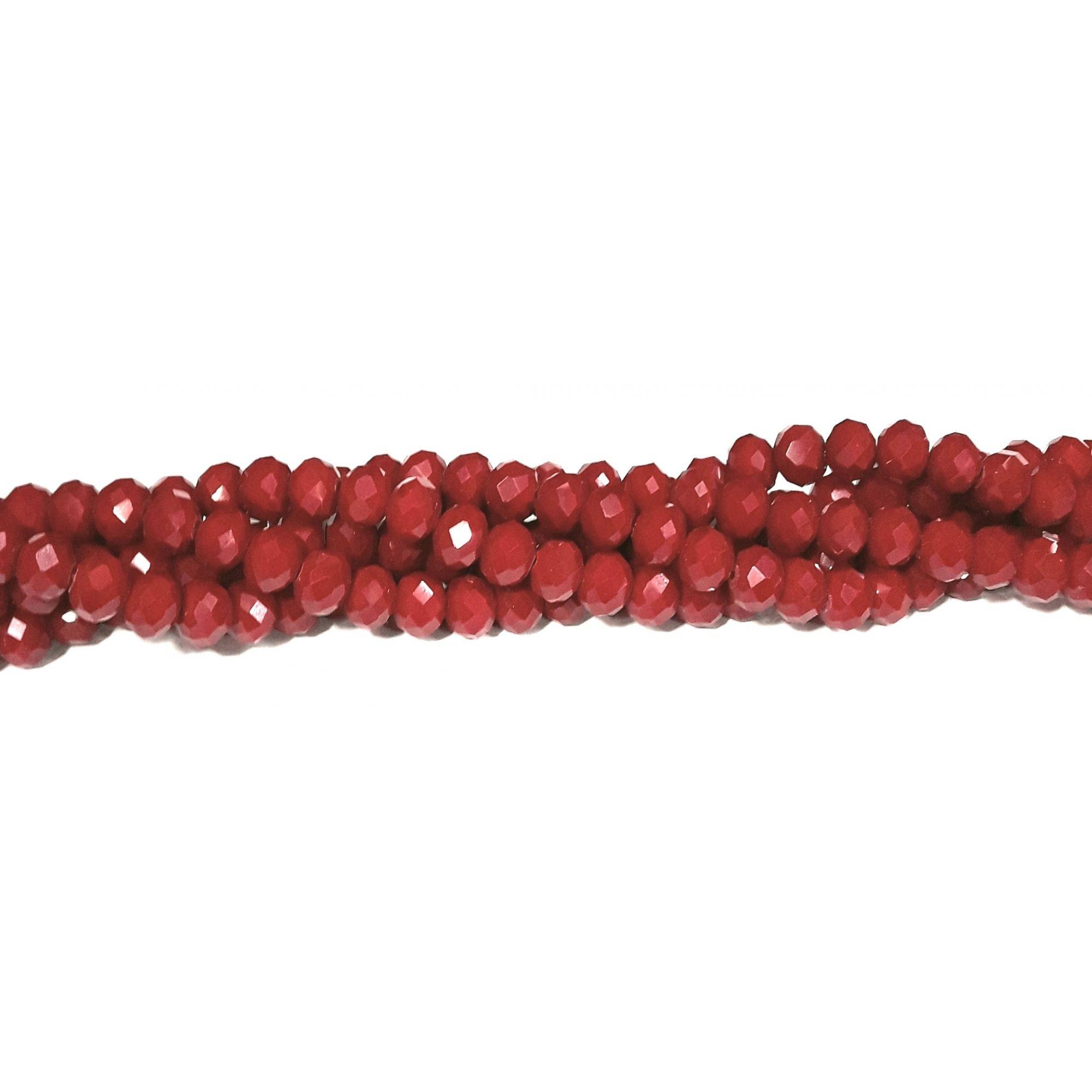 Fio de Cristal 8mm (Vermelho) FDC08