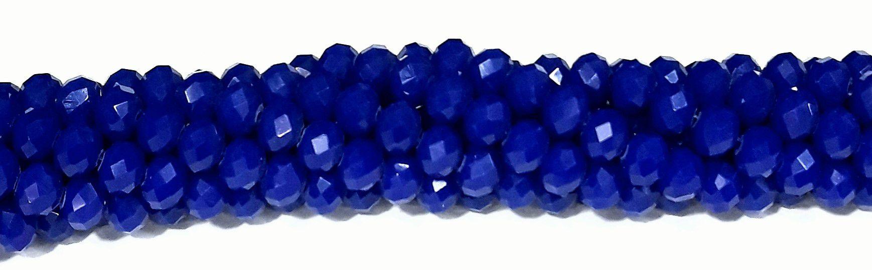 Fio de Cristal Achatado 6mm (Azul Leitoso) - FDC07