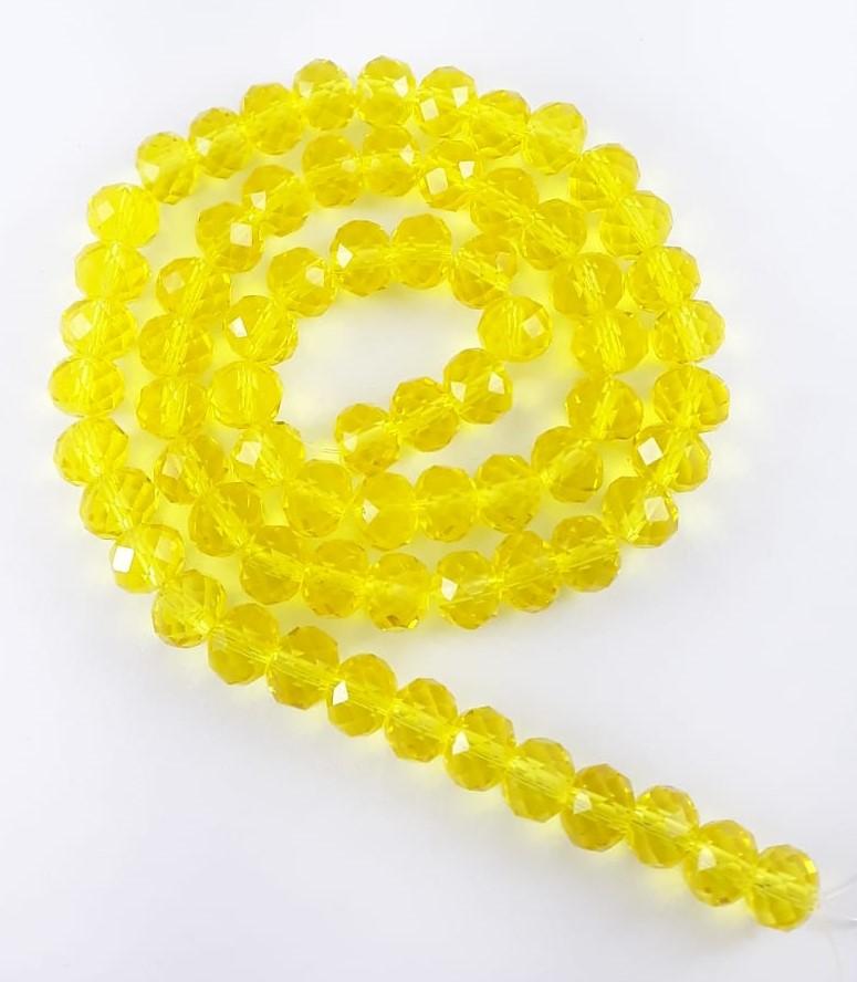 Fios de Cristal Achatado - 8mm  ( Clique aqui e selecione a cor de sua preferencia ) Cores - CRIST