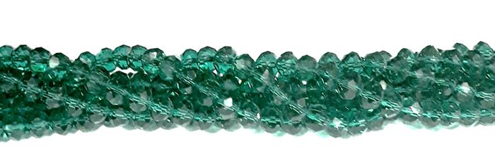 Fio de Cristal Achatado 8mm Verde Militar Transparente - FDC27