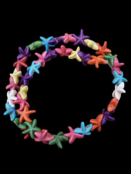 Fio de Estrelas de Howlita Multicolor - EST02