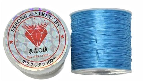 Fio de Fibra Poliester Strech Azul - NSF0326