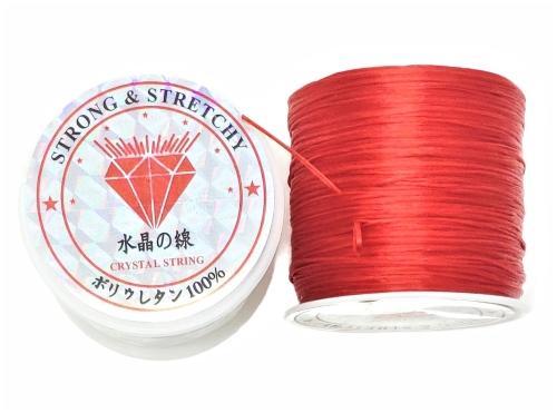 Fio de Fibra Poliester Strech Vermelho - NSF03246