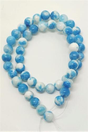 Jade Mesclada Blue end White  8mm
