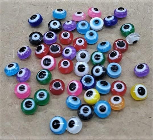 Olho grego achatado - 6MM