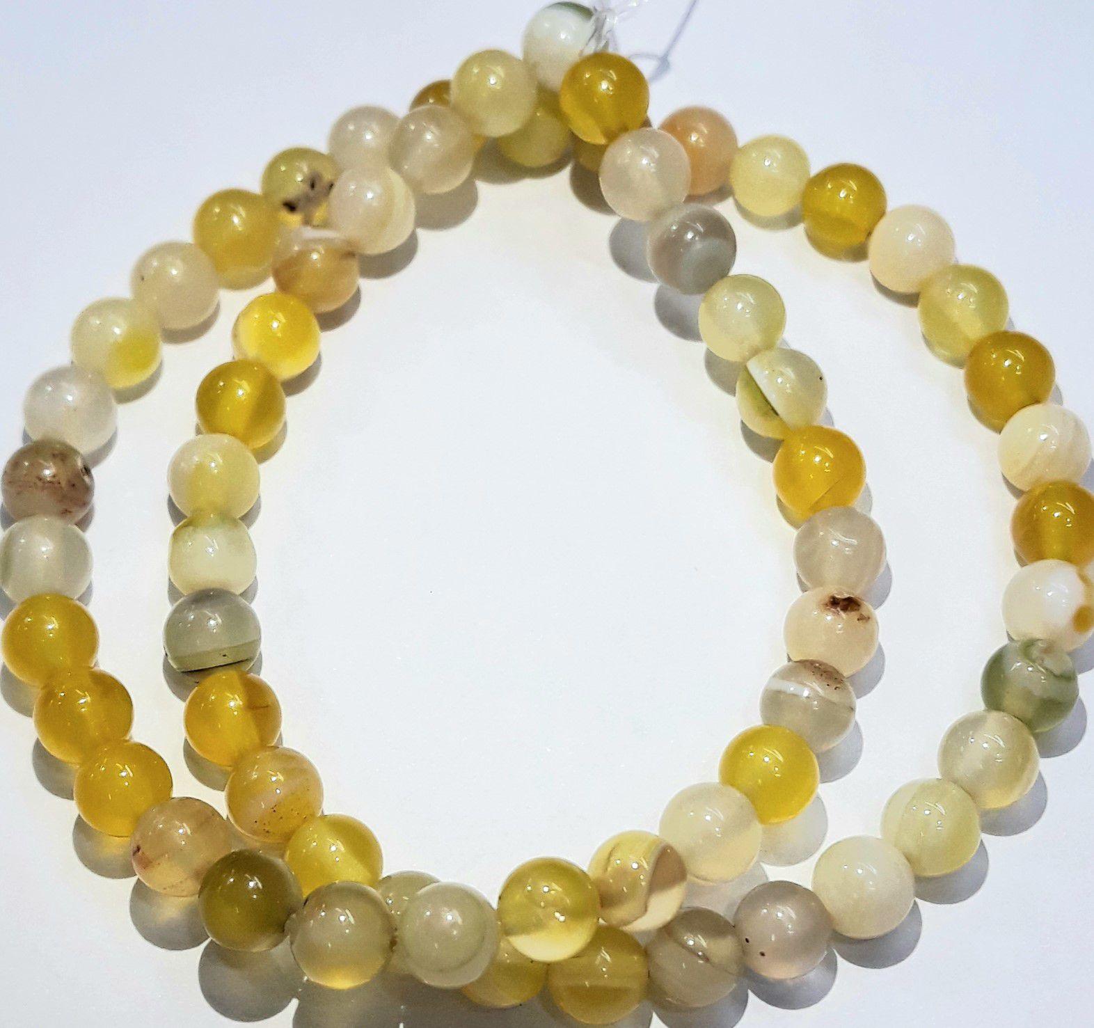 Pedra Agata Amarela 6mm - PED0693