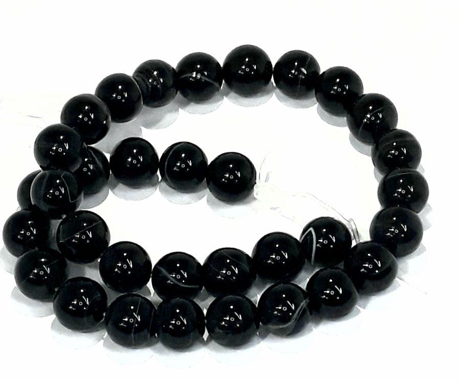 Pedra Agata Negra 12mm - PED1208