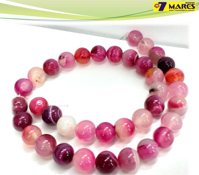 Pedra Agata Pink 10mm