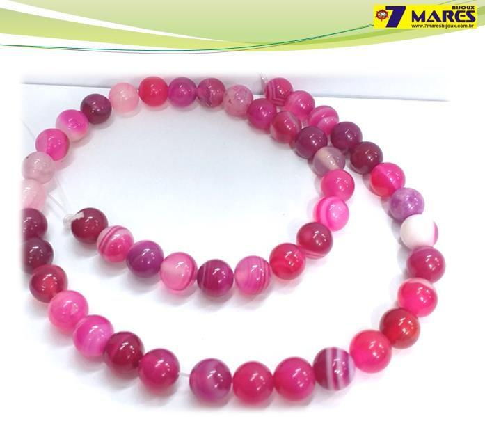 Pedra Agata Pink 8mm