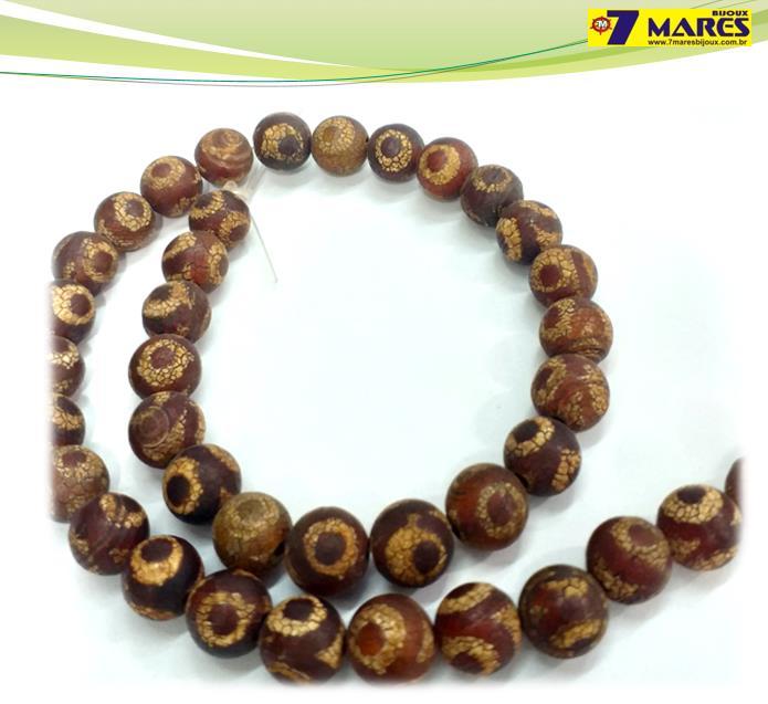 Pedra Agata Tibetana 2 10mm
