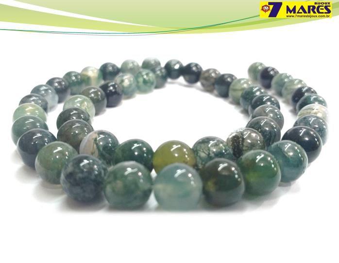 Pedra Agata Verde 8mm