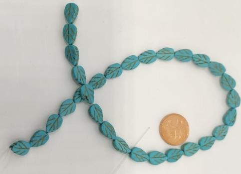 Pedra Howlitas Azul na forma de Folha