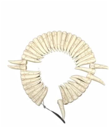 Pedra Howlitas Bege  formato de Dente