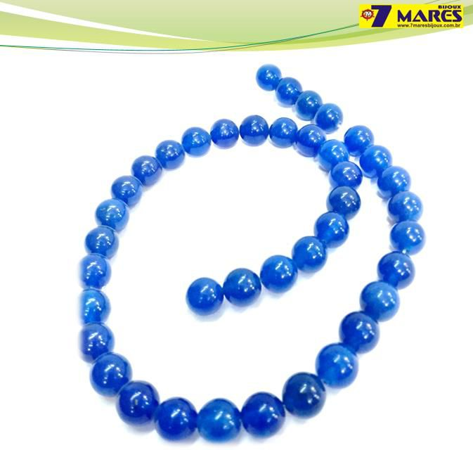 Pedra Jade Azul 10mm