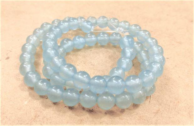 Pedra Jade Azul Claro 6mm
