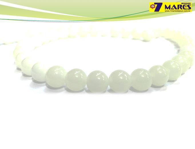 Pedra Jade Milk (leitosa) 8mm