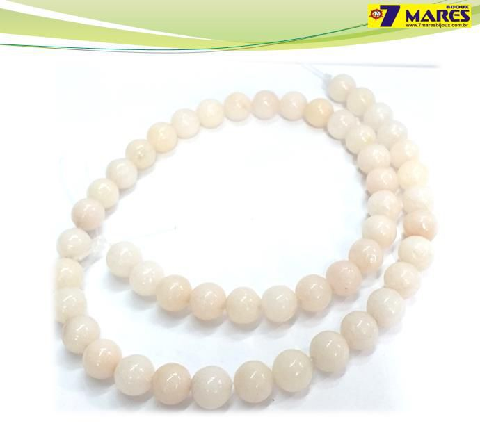 Pedra Jade Milk Rosa 8mm