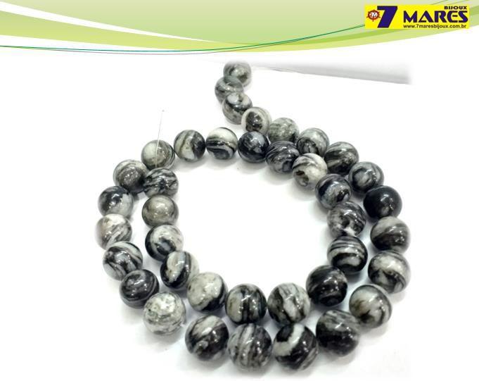 Pedra Jaspe Black Net 10mm