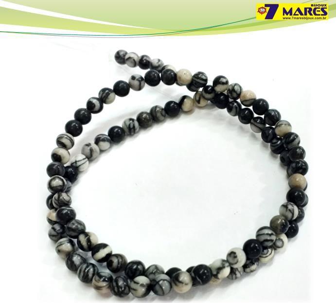 Pedra Jaspe Black Net 4mm