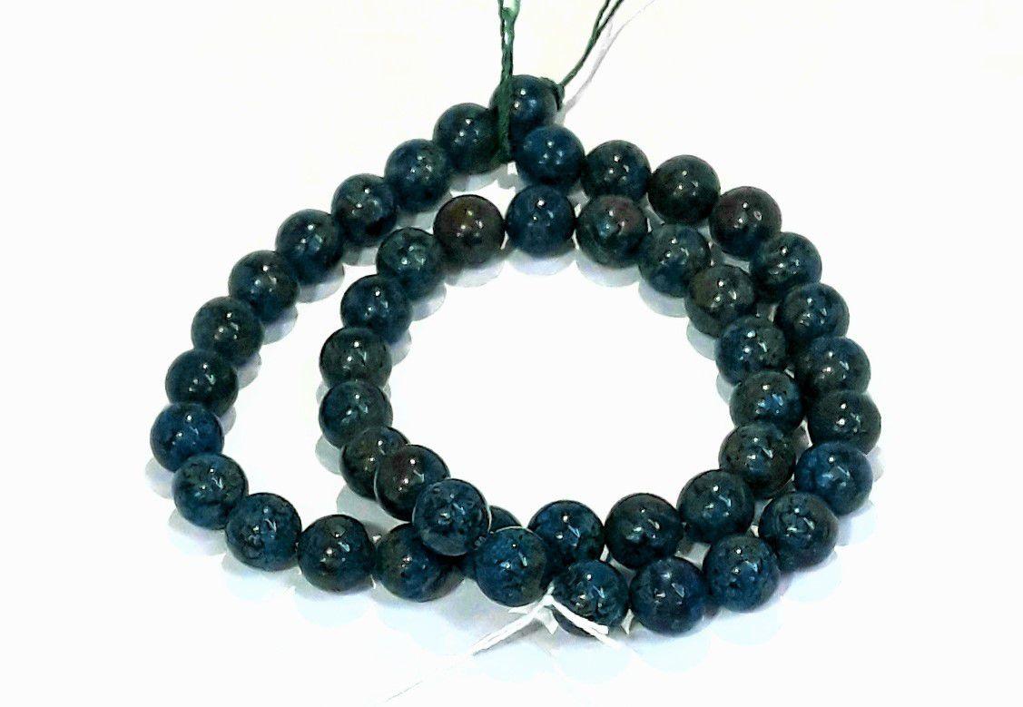 Pedra Jaspe Calsilica Azul 8mm - PED08209