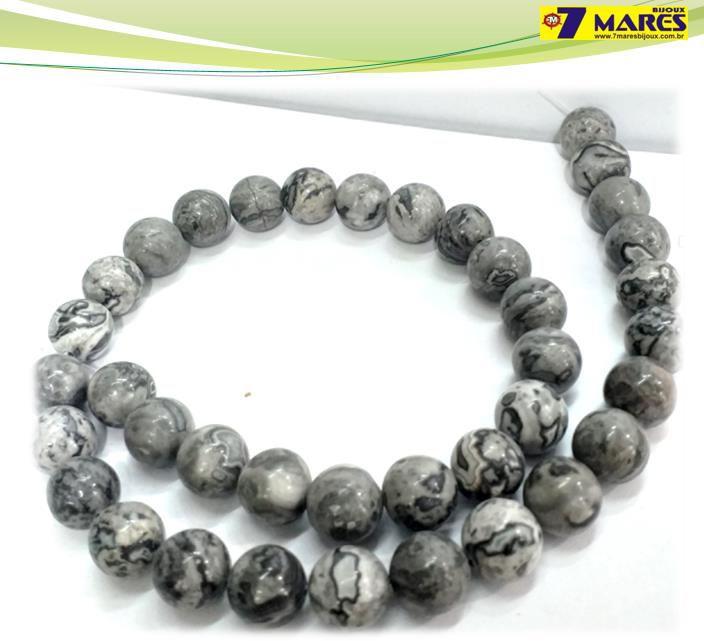 Pedra Jaspe Cinza 10mm