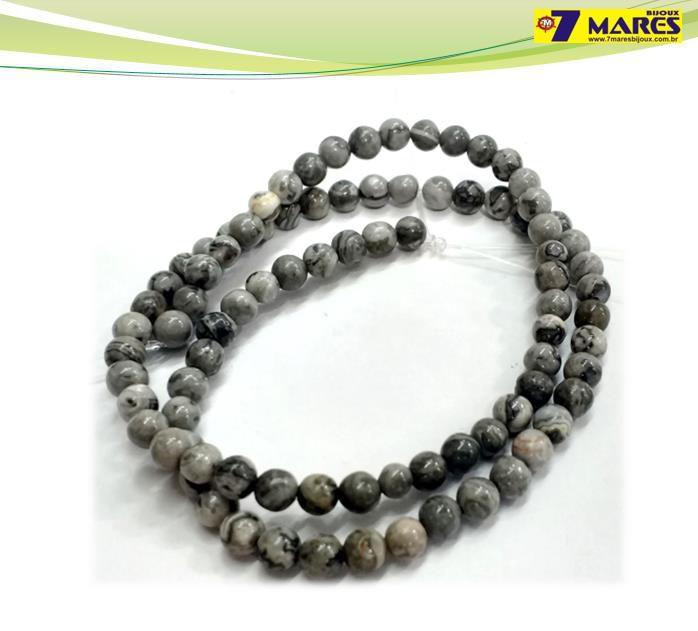 Pedra Jaspe Cinza 4mm