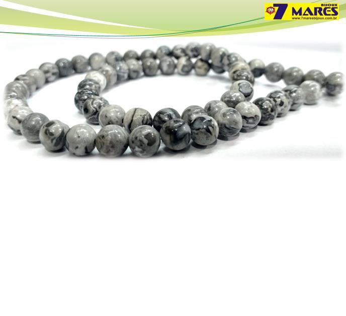 Pedra Jaspe Cinza 6mm