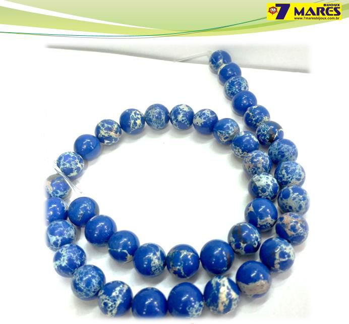 Pedra Jaspe Imperial Azul 10mm