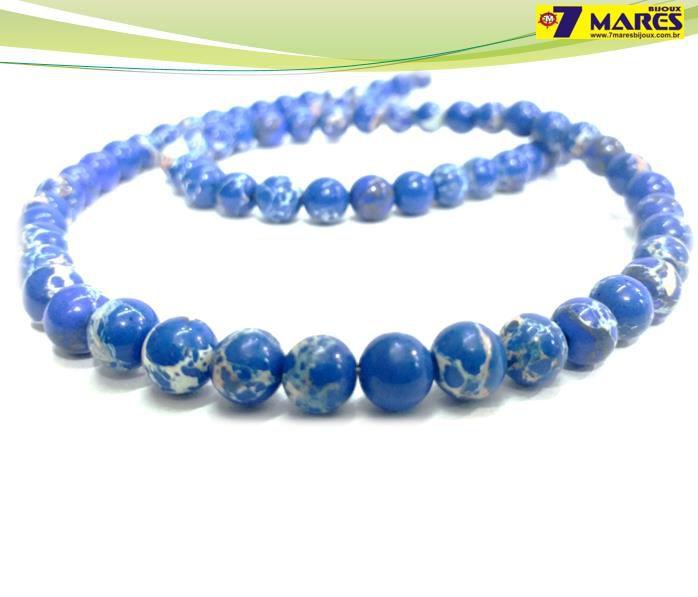 Pedra Jaspe Imperial Azul 6mm