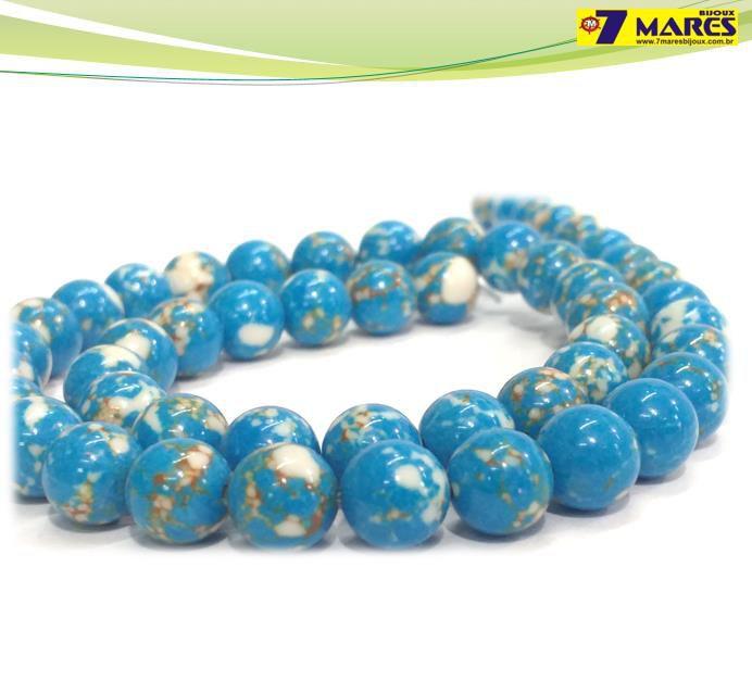 Pedra Jaspe Imperial Azul Turquesa 8mm