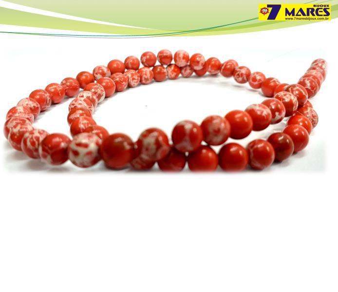 Pedra Jaspe Imperial Vermelho 6mm