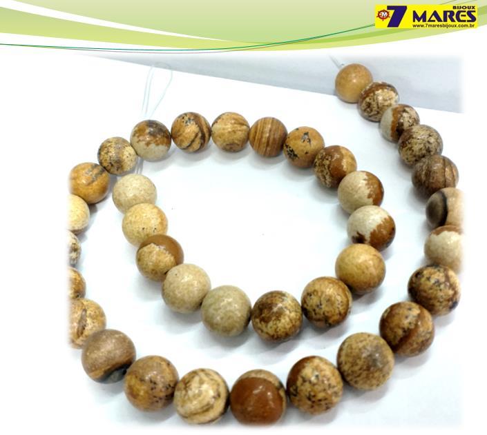 Pedra Jaspe Madeira 10mm