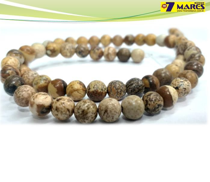 Pedra Jaspe Madeira 6mm