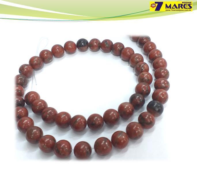 Pedra Jaspe Sanguíneo 8mm
