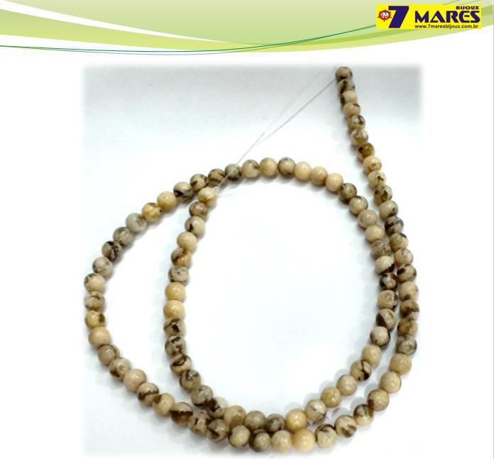 Pedra Jaspe Vanilla 4mm