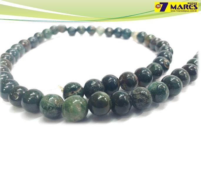 Pedra Jaspe Verde Escura 8mm