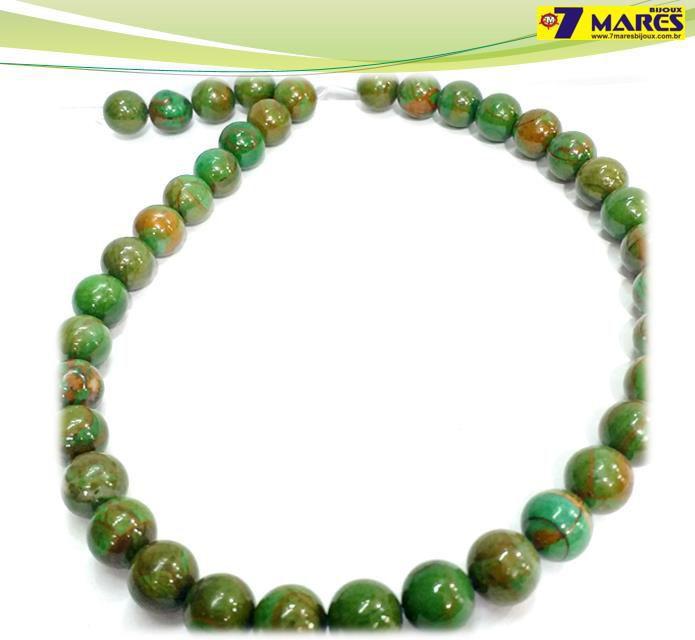 Pedra Jaspe Verde Mesclada 10mm