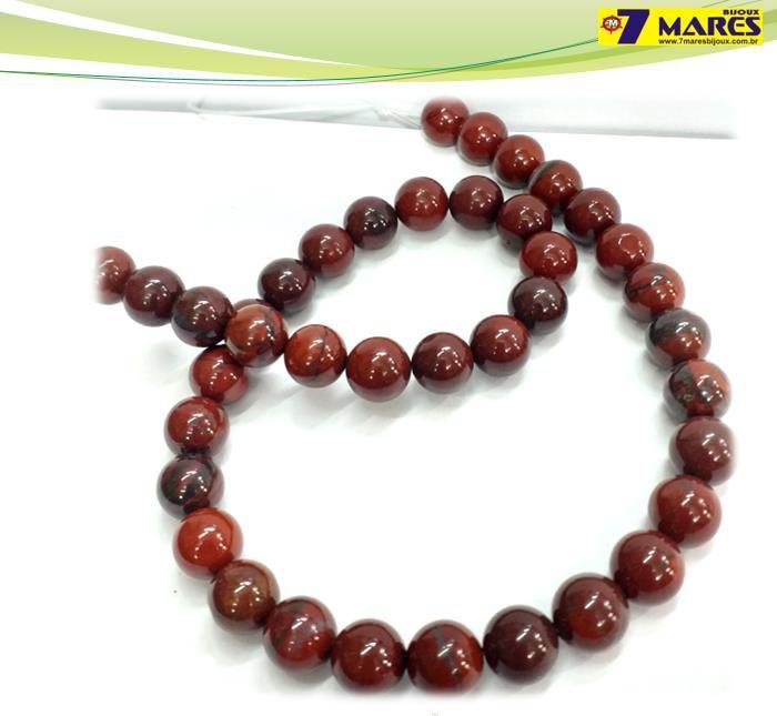 Pedra Jaspe Vermelha 10mm
