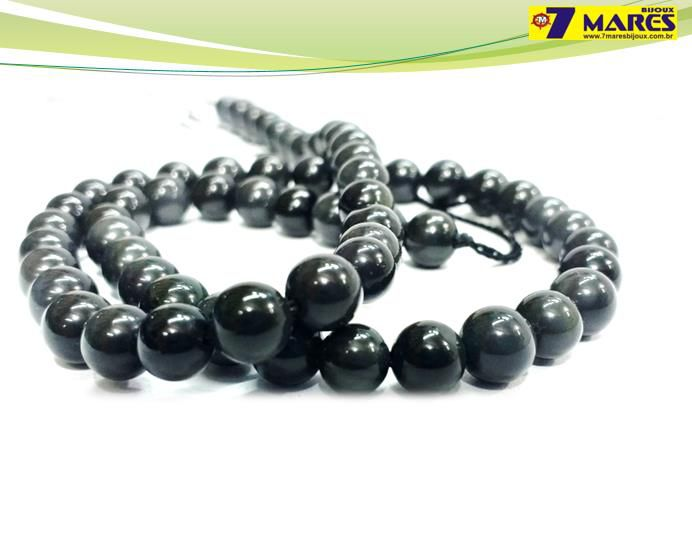 Pedra Obsidiana Negra 6mm