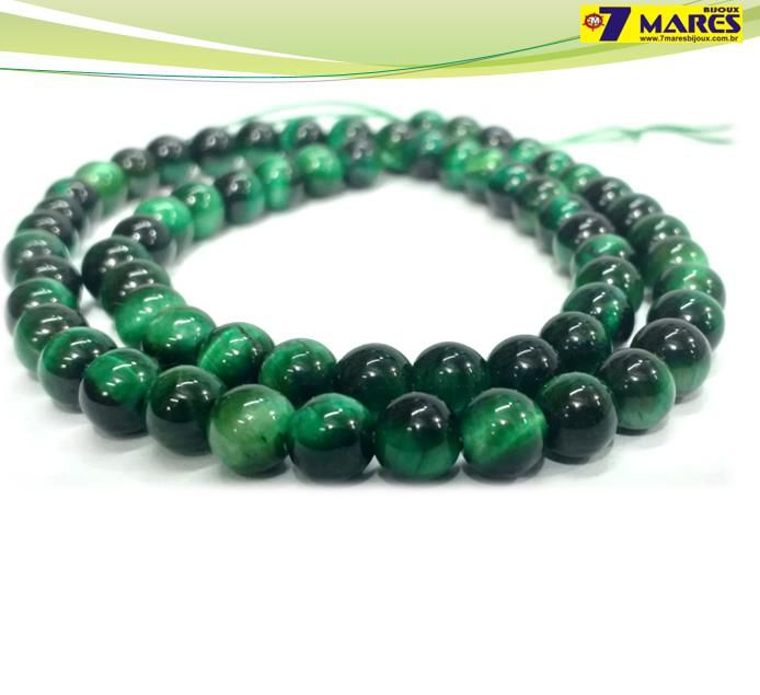 Pedra Olho de Tigre Verde 6mm