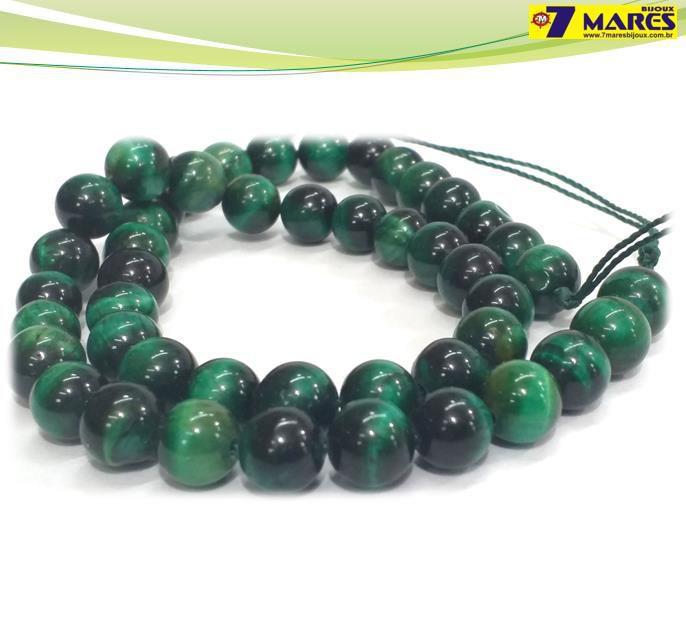 Pedra Olho de Tigre Verde 8mm