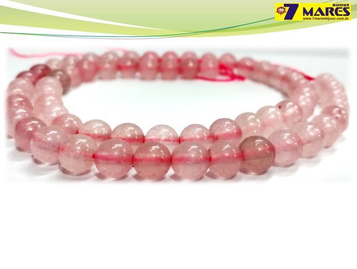 Pedra Quartzo Rosa 6mm