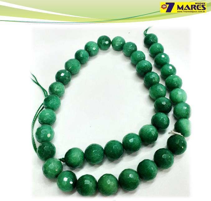 Pedra Quartzo Verde Facetado 10mm