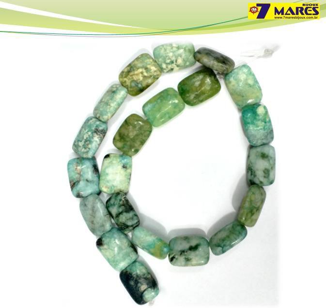 Pedra Retangular Amazonita