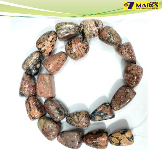 Pedra Rolada Jaspe pele de Leopardo