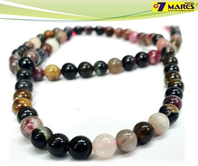 Pedra Turmalina Multicolor 5mm